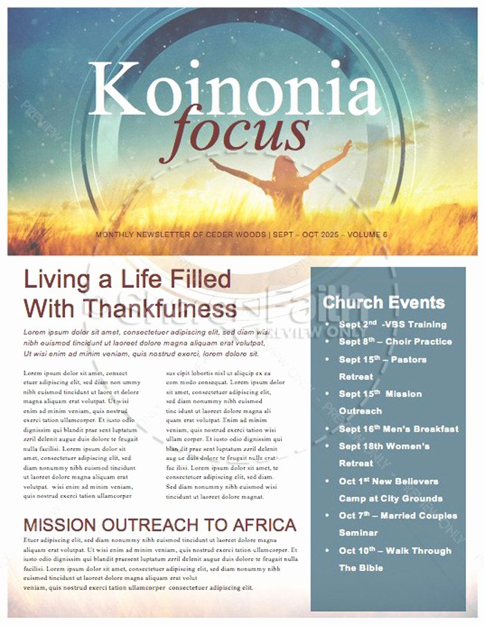 Free Church Newsletter Templates Awesome 15 Free Church Newsletter Templates Ms Word Publisher