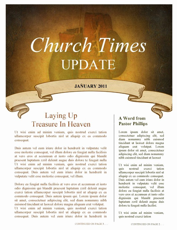 Free Church Newsletter Templates Awesome Bat Church Newsletter Template Template