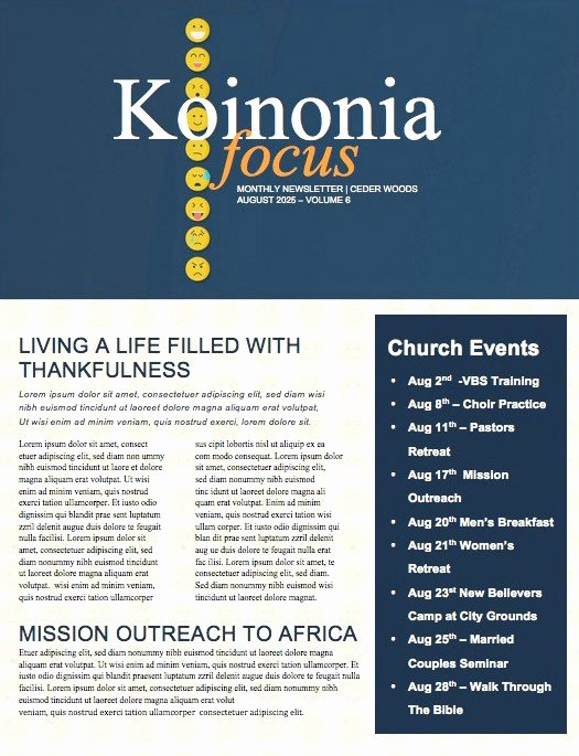 Free Church Newsletter Templates Beautiful Beautiful Edit Ready Church Newsletters and Newsletter