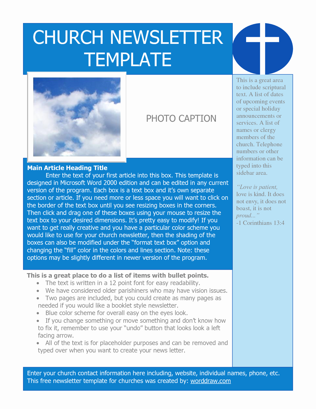 Free Church Newsletter Templates Beautiful Best S Of Sample Church Templates Church