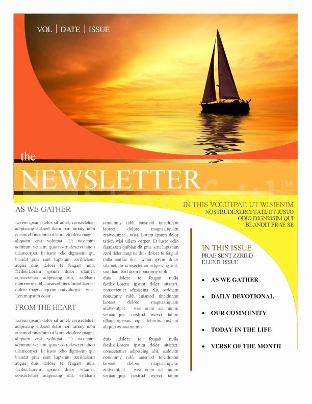 Free Church Newsletter Templates Best Of Church Newsletter Templates Template