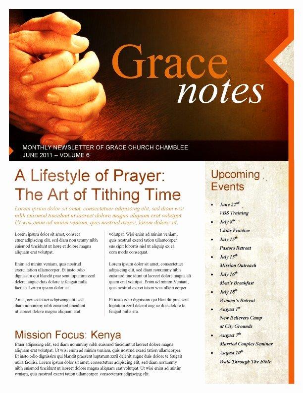 Free Church Newsletter Templates Best Of Prayer Church Newsletter