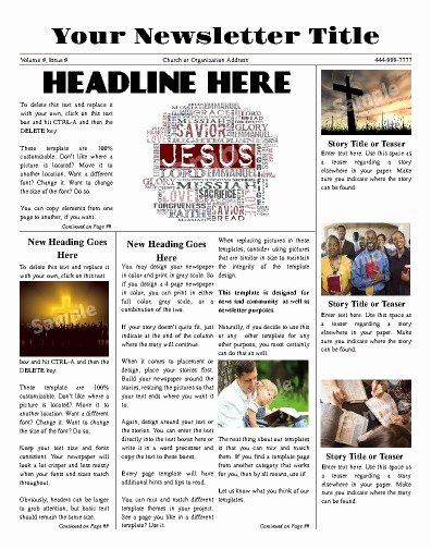 Free Church Newsletter Templates Elegant Free Newsletter Templates Print and Digital