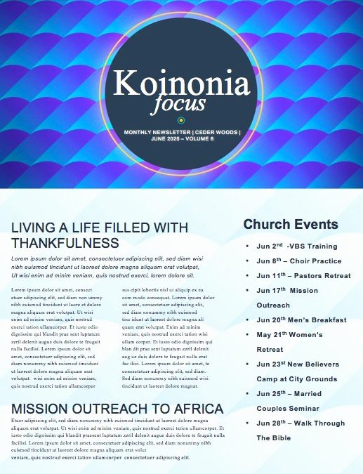 Free Church Newsletter Templates Inspirational Beautiful Edit Ready Church Newsletters and Newsletter