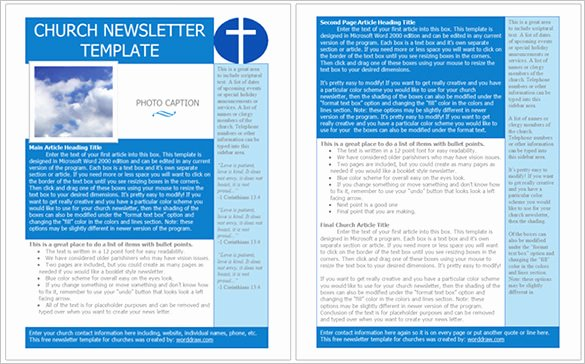 Free Church Newsletter Templates Lovely Best Church Newsletter Template 10 Free Sample Example