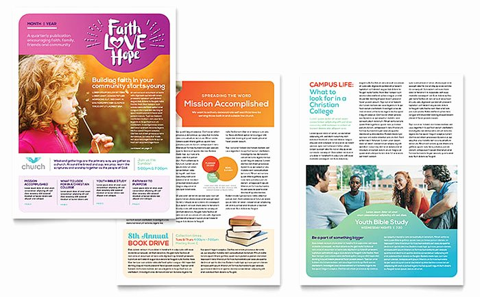 Free Church Newsletter Templates Lovely Church Newsletter Template Word & Publisher