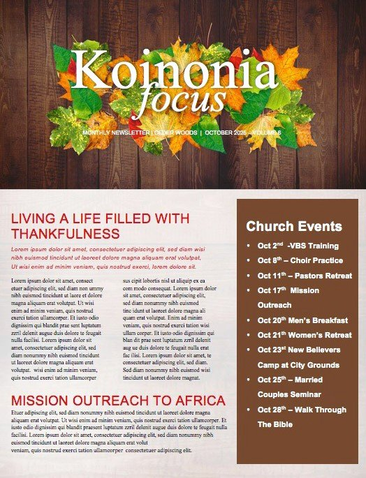 Free Church Newsletter Templates Luxury Beautiful Edit Ready Church Newsletters and Newsletter
