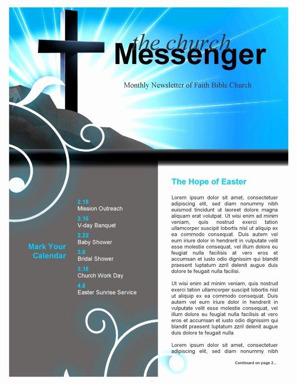 Free Church Newsletter Templates Unique Church Cross Newsletter Template