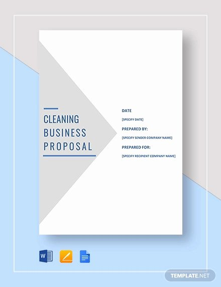 Free Cleaning Proposal Template Beautiful 23 Sample Proposal forms Word Pdf