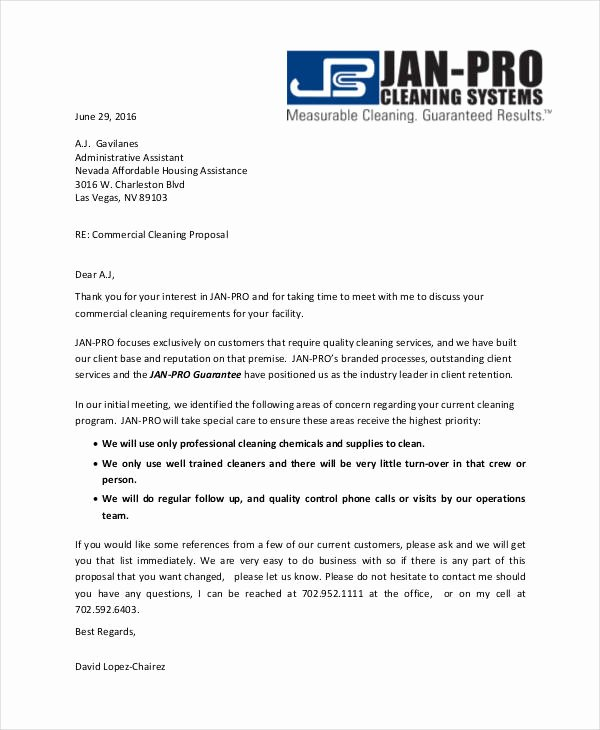 Free Cleaning Proposal Template Beautiful Free 12 Cleaning Proposal Examples and Samples In Pdf