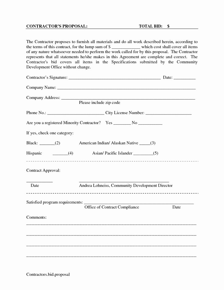 Free Cleaning Proposal Template Beautiful Printable Blank Bid Proposal forms