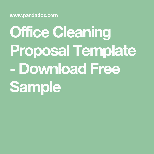 Free Cleaning Proposal Template Unique Fice Cleaning Proposal Template Download Free Sample