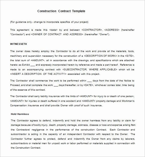 Free Construction Contract Template Awesome 12 Legal Contract Templates Word Pdf Google Docs