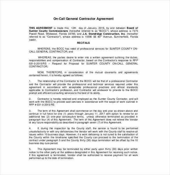 Free Construction Contract Template Awesome Contractor Agreement Template – 23 Free Word Pdf Apple