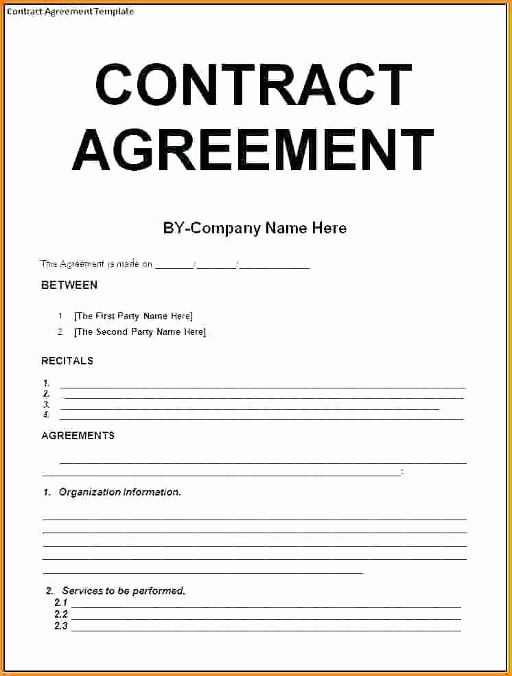 Free Construction Contract Template Inspirational 9 Contract Agreement Letter Examples Pdf