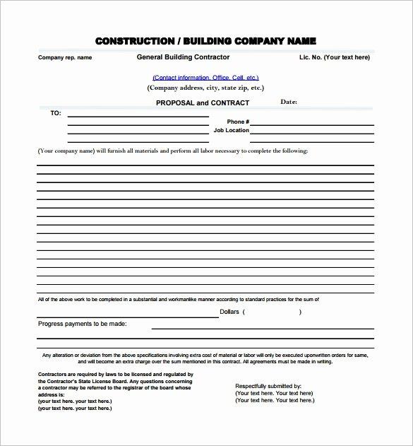 Free Construction Estimate Template Pdf Elegant Construction Proposal Template