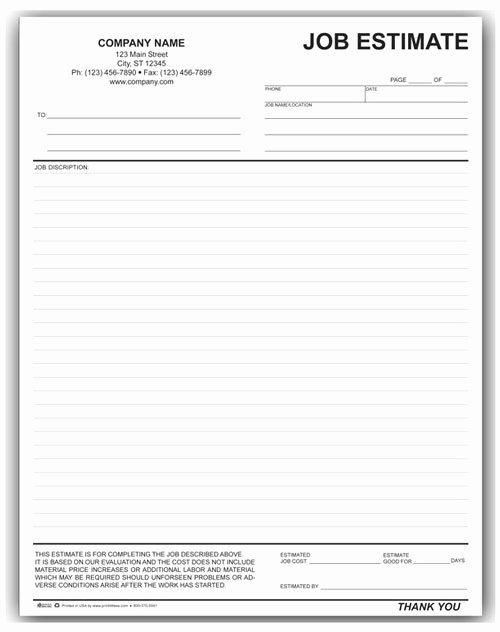 Free Construction Estimate Template Pdf Lovely Free Construction Estimate Template Pdf