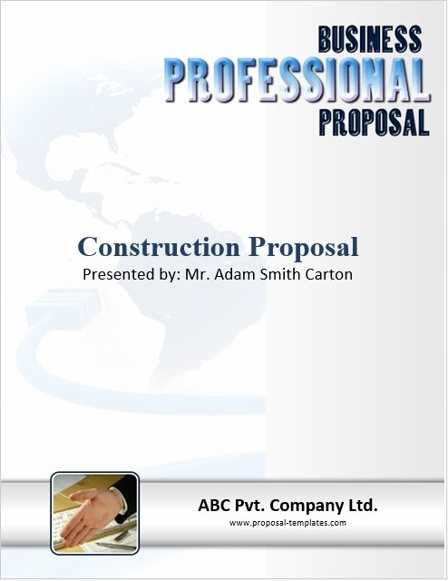 Free Construction Proposal Template Best Of 9 Free Sample Construction Proposal Templates Printable