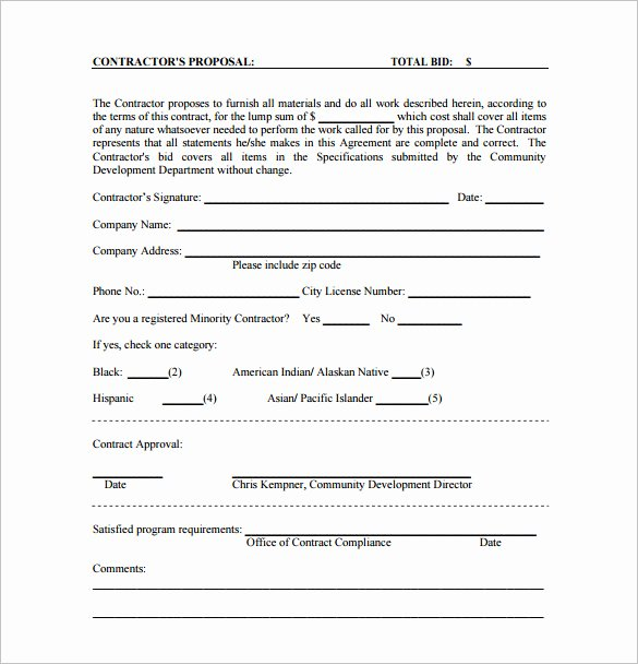 Free Construction Proposal Template Best Of Proposal Templates 170 Free Word Pdf format Download
