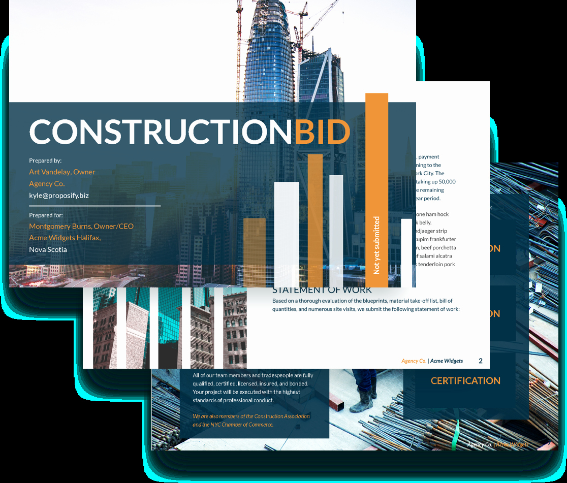 Free Construction Proposal Template Elegant Bid Proposal Template Free Sample