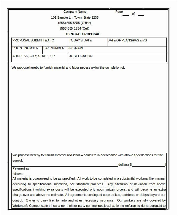 Free Construction Proposal Template Fresh 17 Contractor Proposal Templates Free Word Pdf format