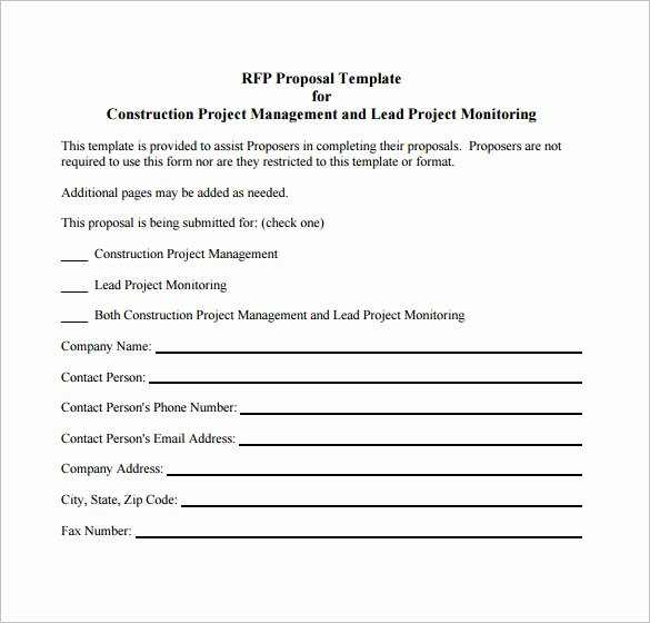 Free Construction Proposal Template Pdf Awesome 27 Project Proposal Templates Pdf Doc