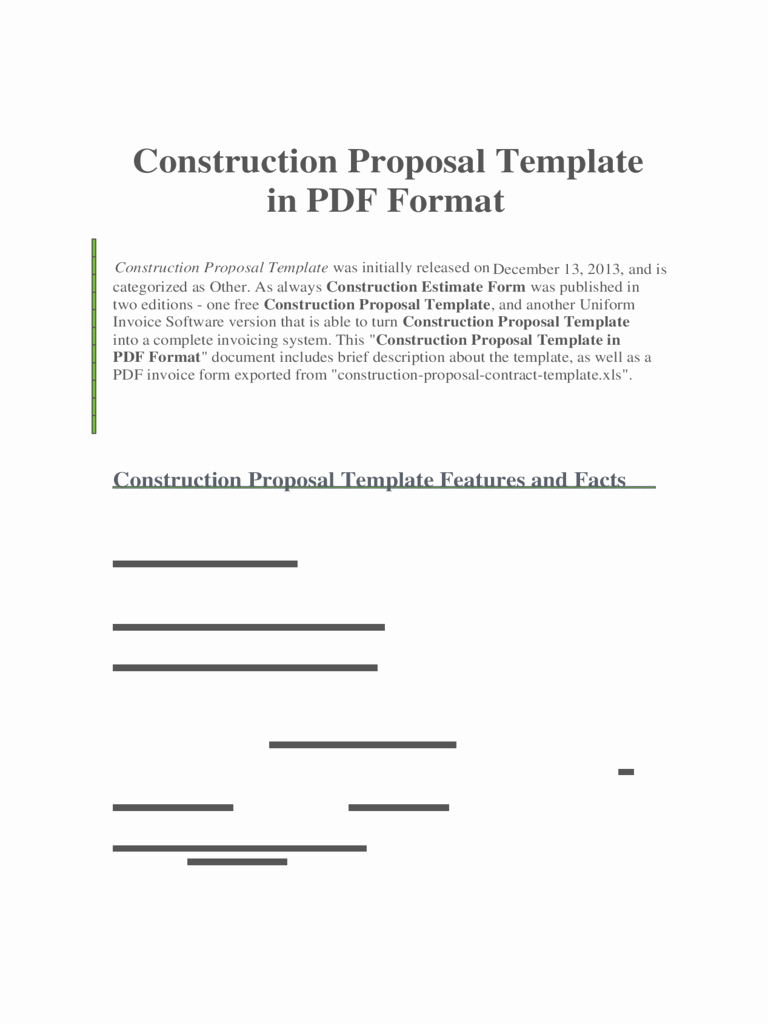 Free Construction Proposal Template Pdf New Construction forms 41 Free Templates In Pdf Word Excel