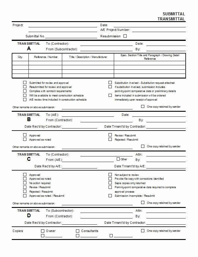 Free Construction Submittal form Template Beautiful Submittal Transmittal Polygamy Pinterest