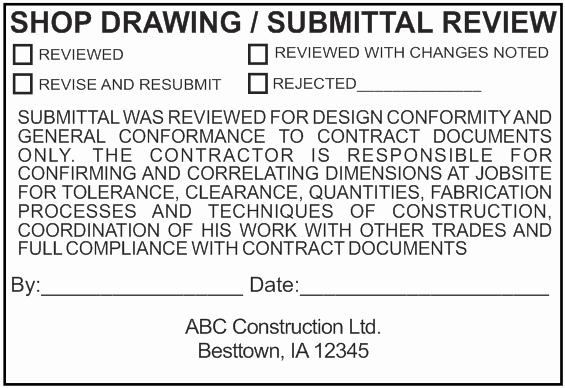 Free Construction Submittal form Template Luxury Construction Stamps for Contractors Engineers & Architects