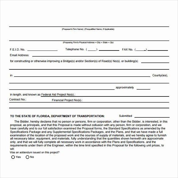 Free Contractor Proposal Template Elegant Sample Contract Template 8 Download Free Documents In