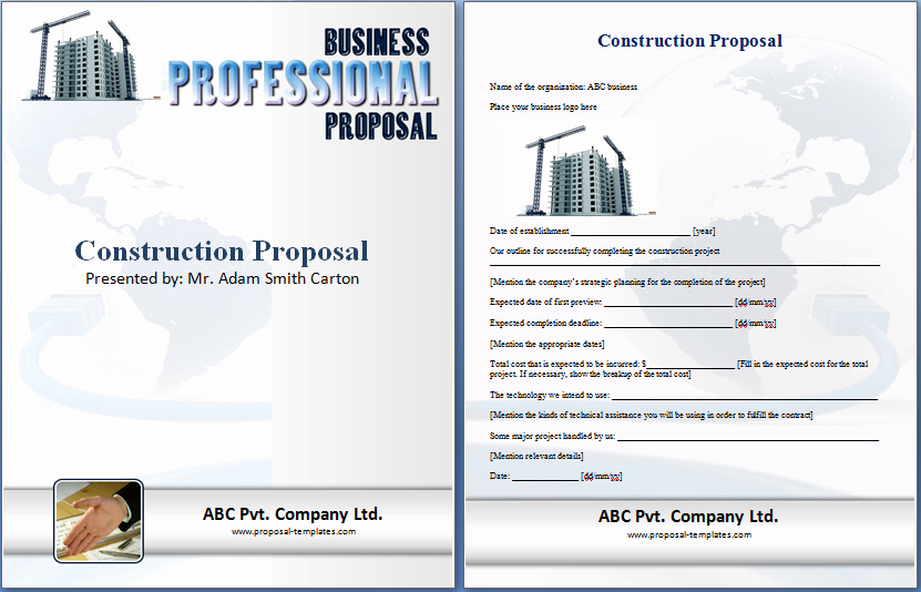 Free Contractor Proposal Template New formal Construction Proposal Template