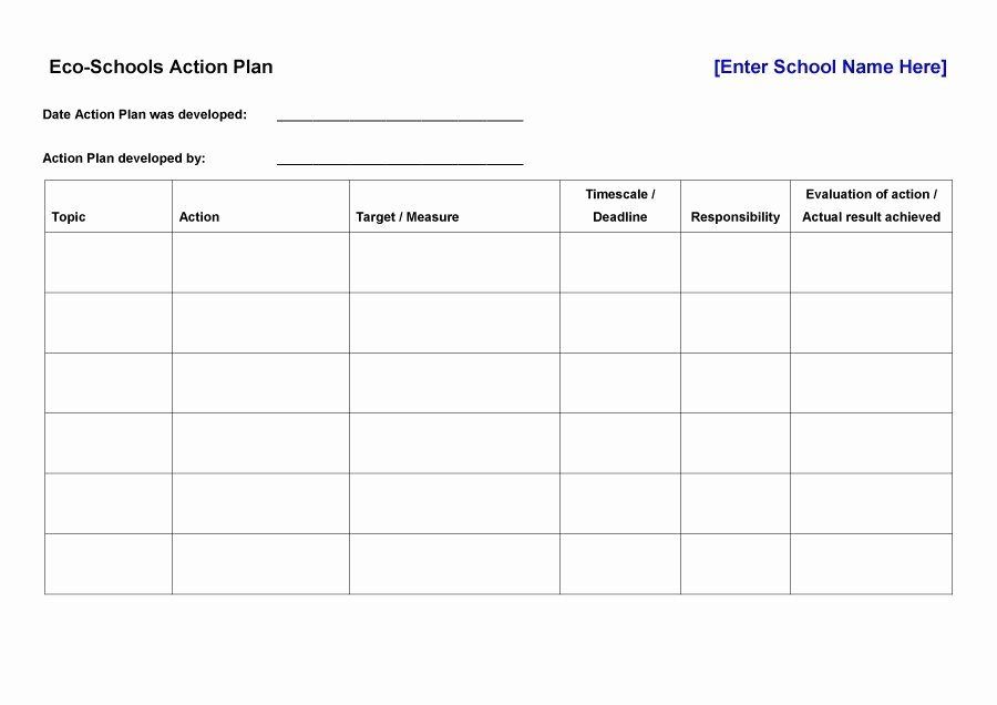 Free Corrective Action Plan Template Elegant 45 Free Action Plan Templates Corrective Emergency