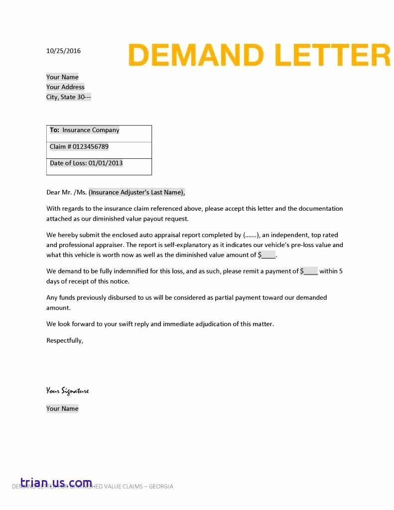Free Demand Letter Template Fresh Demand Letter Template Free Examples