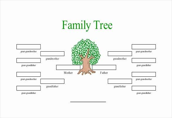 Free Editable Family Tree Templates Lovely Simple Family Tree Template 25 Free Word Excel Pdf
