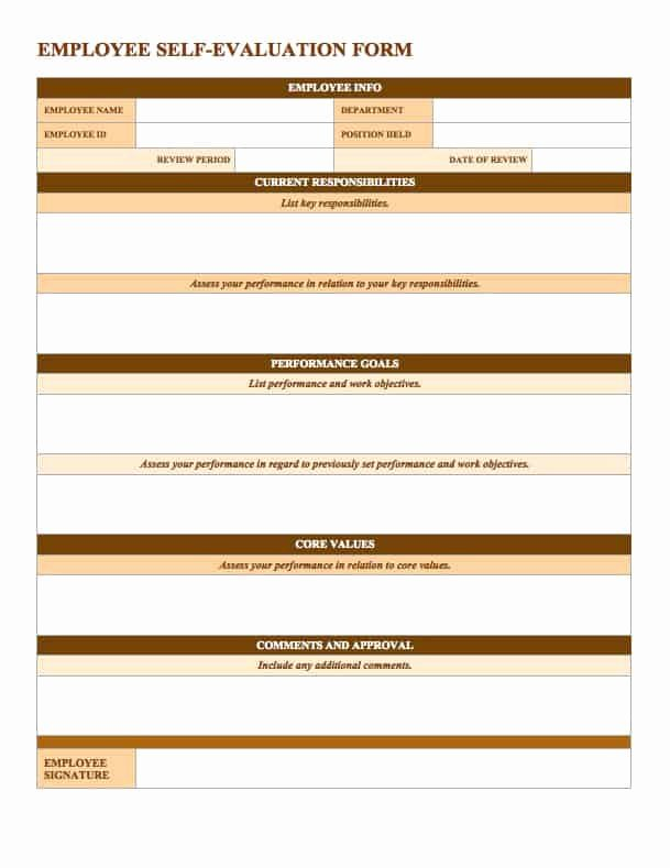 Free Employee Evaluation forms Templates Fresh Free Employee Performance Review Templates Smartsheet