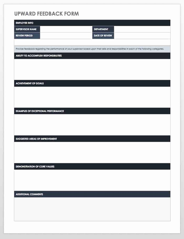 Free Employee Performance Review Template Fresh Free Employee Performance Review Templates