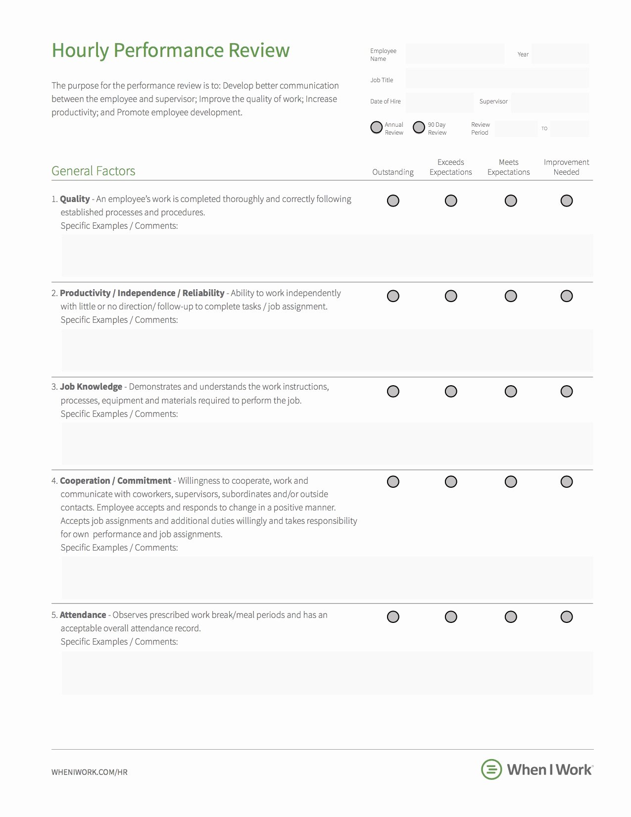 Free Employee Review Templates Best Of 7 Best Practices for An Effective Employee Performance