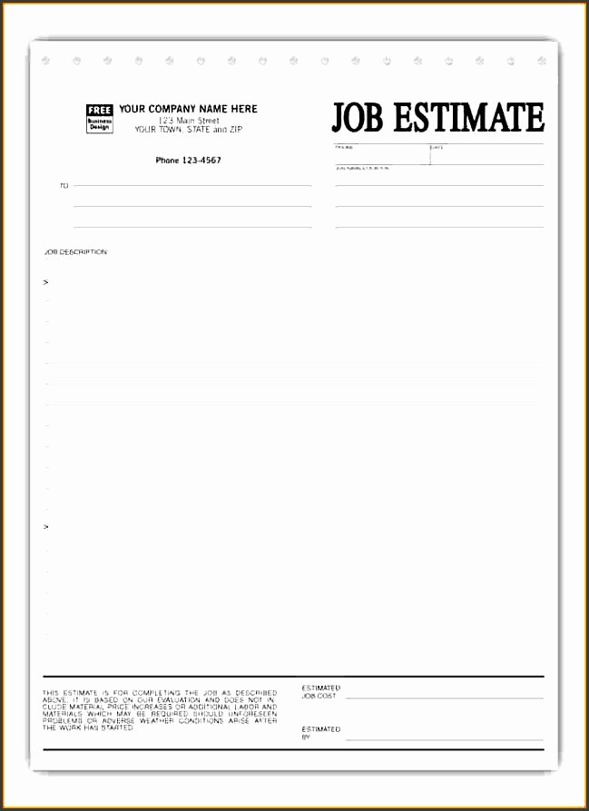 construction work estimate template snogb