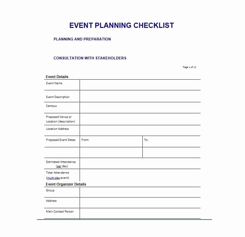 Free event Plan Template Lovely 50 Professional event Planning Checklist Templates