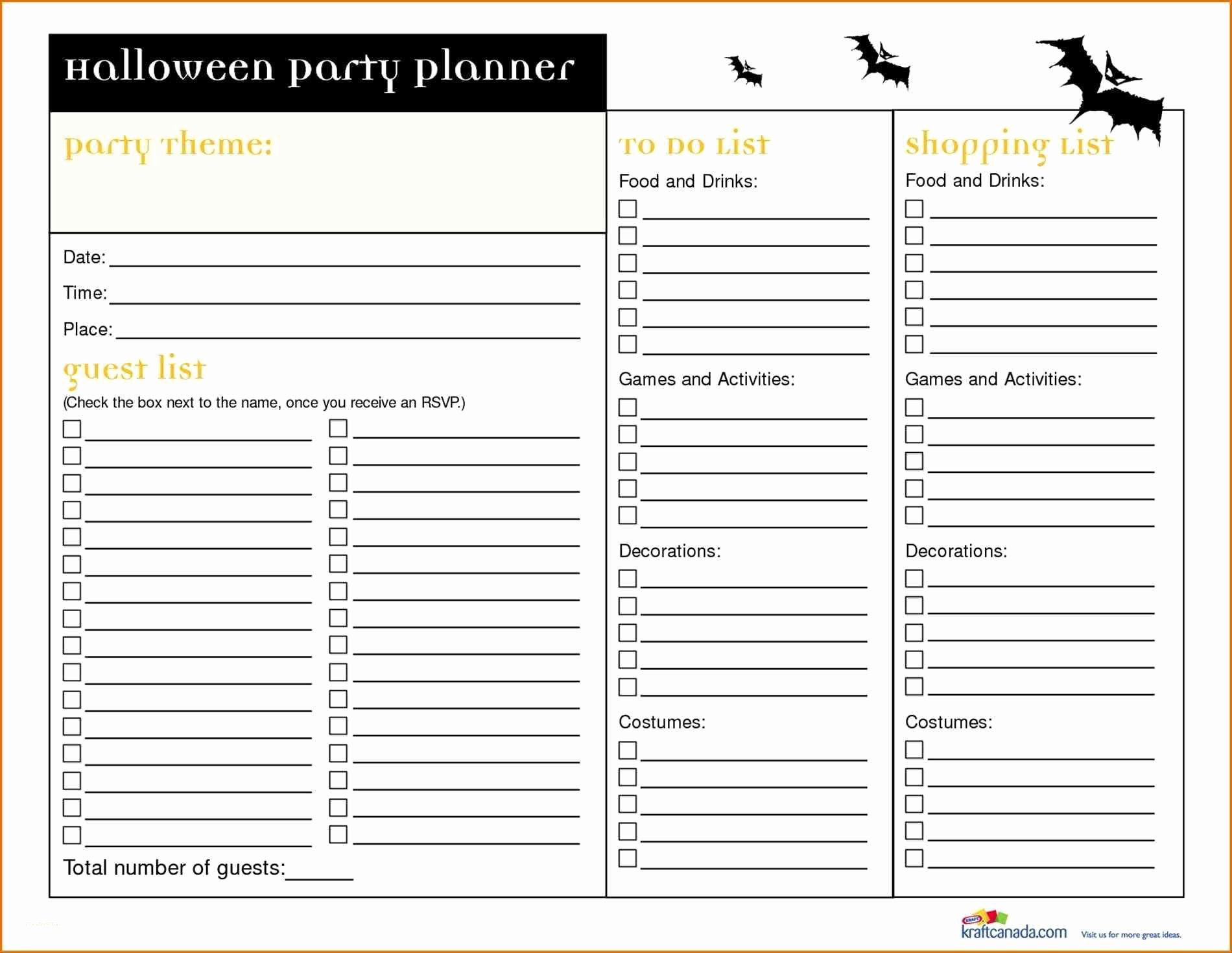 Free event Planner Templates Best Of Birthday Party Planner Template Inspirational Planning