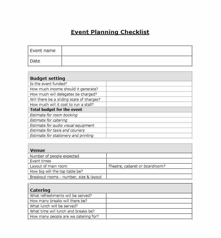 Free event Planner Templates Fresh 50 Professional event Planning Checklist Templates