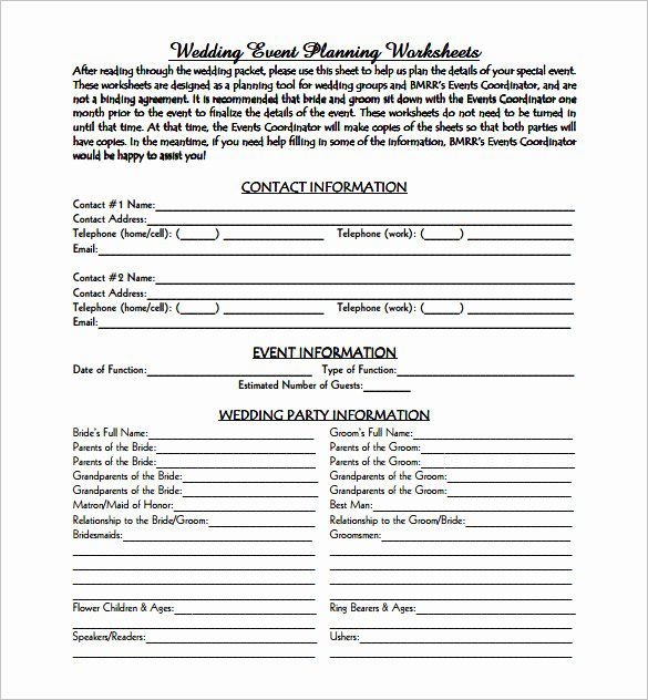 Free event Planning Templates Lovely Printable Document Doc Wedding event Plan Free Pdf