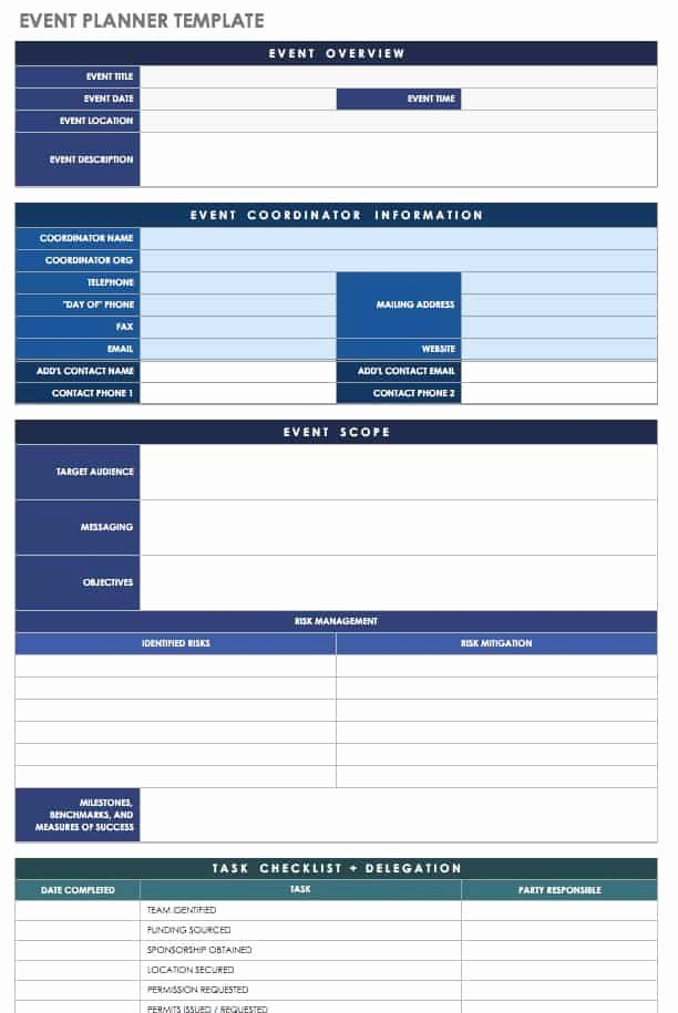 Free event Planning Templates New 21 Free event Planning Templates
