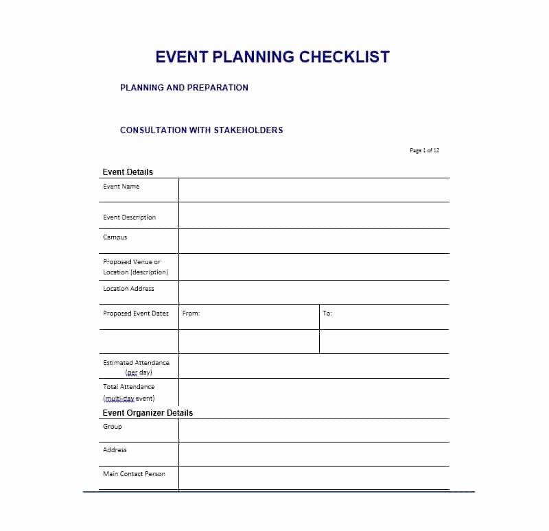 Free event Planning Templates Unique 50 Professional event Planning Checklist Templates