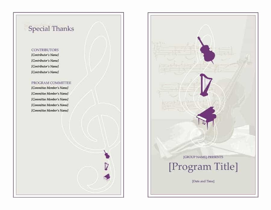 Free event Program Templates Fresh 40 Free event Program Templates Designs Template Archive