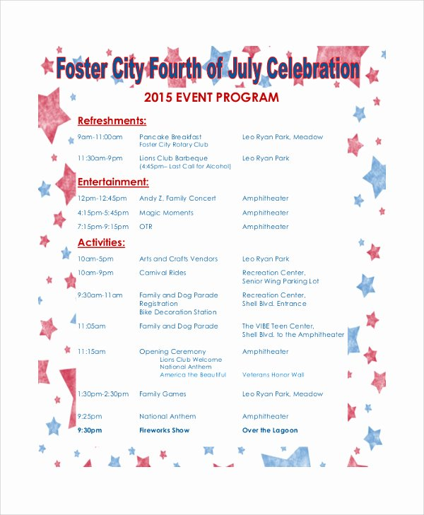 Free event Program Templates Lovely 5 event Program Template Printables Free Download