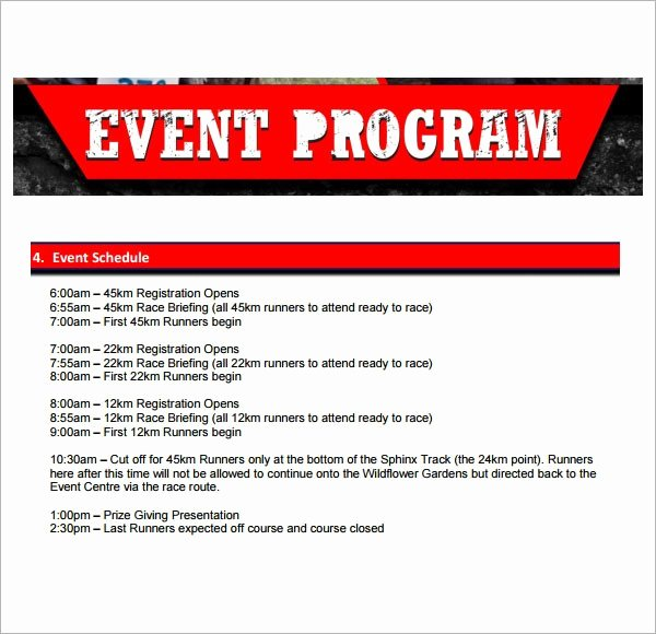 Free event Program Templates Luxury 5 event Program Template Printables Free Download