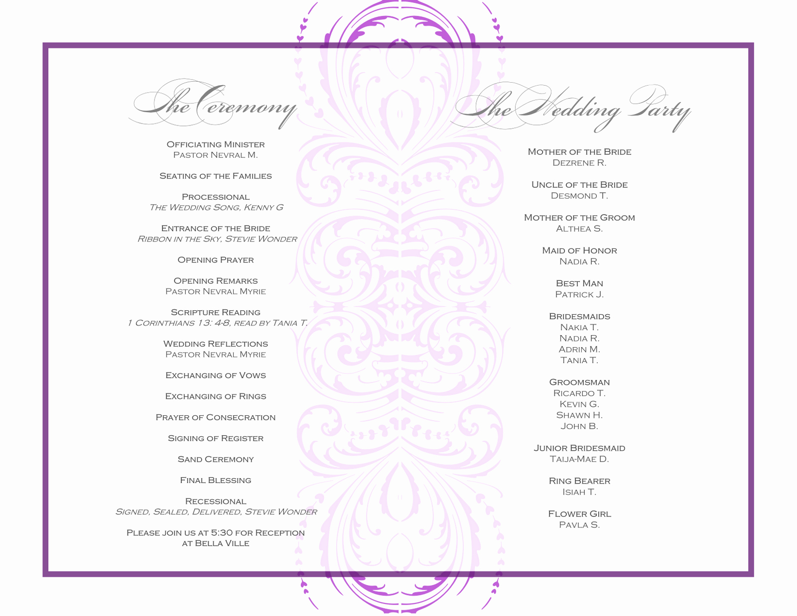 Free event Program Templates Luxury event Program Template