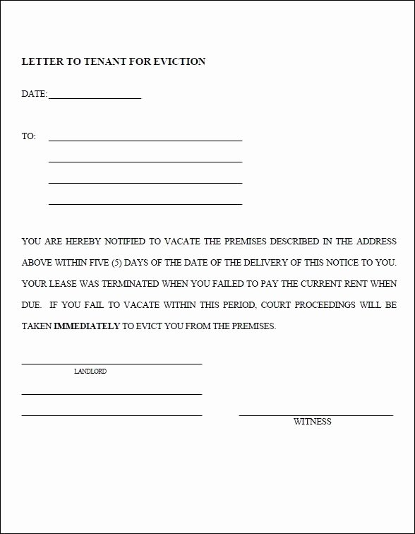Free Eviction Notices Templates Awesome 13 Blank Eviction Notice Templates Free Download