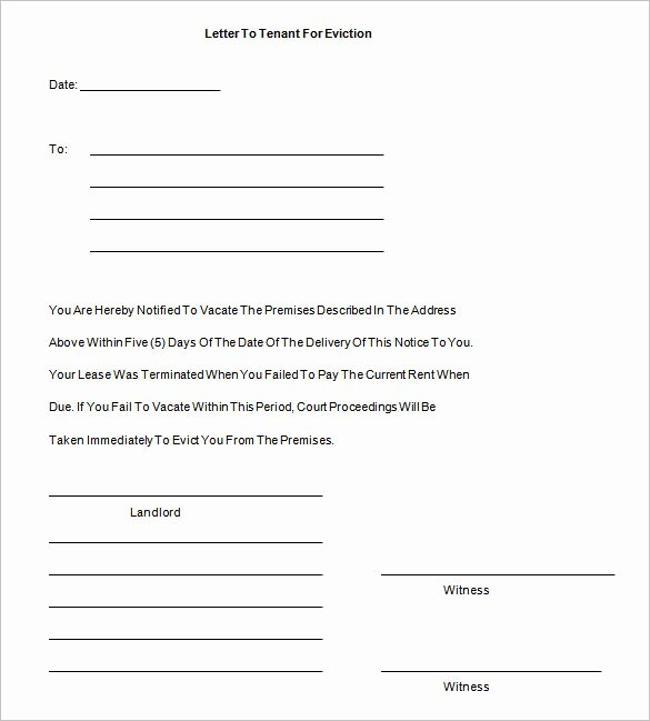 Free Eviction Notices Templates New Eviction Notice Template